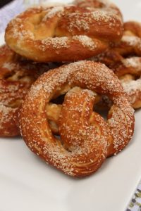Salty soft pretzels