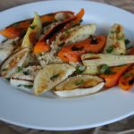 Roasted carrots, parsnips and turnips make perfect companions to quinoa. Photo by M.A. Ebner
